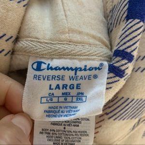 Champion Shirts - Champion Plaid reverse weave hooded sweatshirt